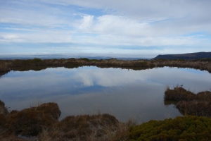Mt Taranaki and tarn