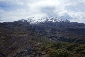 View of Ruahpehu dominated by Paretetaitonga