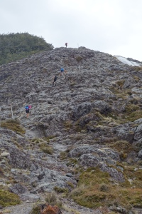 Rock scramble to waterfall