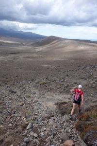 Running round a volcano