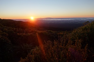 Sunrise over Ngarauhoe and Tongariro