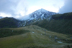 Taranaki from the skifield