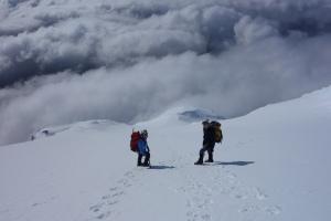 Descending the north ridge