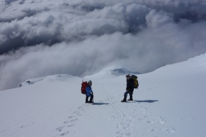 Descending the north ridge