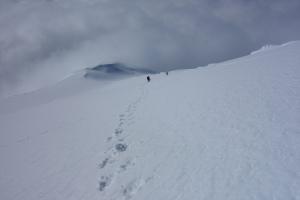Descending north ridge