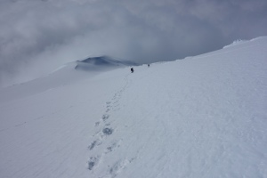 Descending north ridge