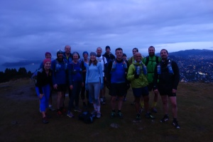WoRM runners on Mt KauKau July run thru