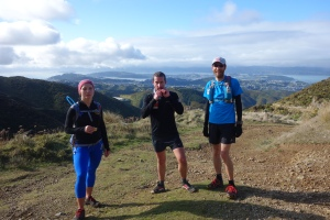 Ewa, Gareth and Stu on the southern traverse July run thru