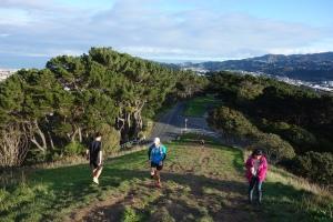 Stu running up the penultimate hill July run thru