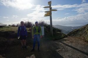 Mark and Viktor on Makara Peak Aug run thru